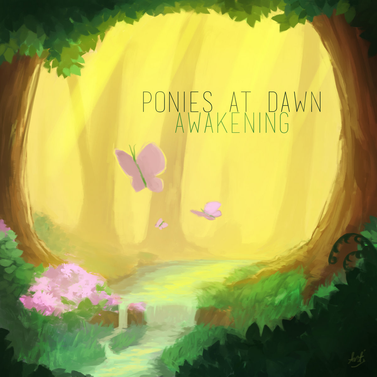 awakening ponies at dawn