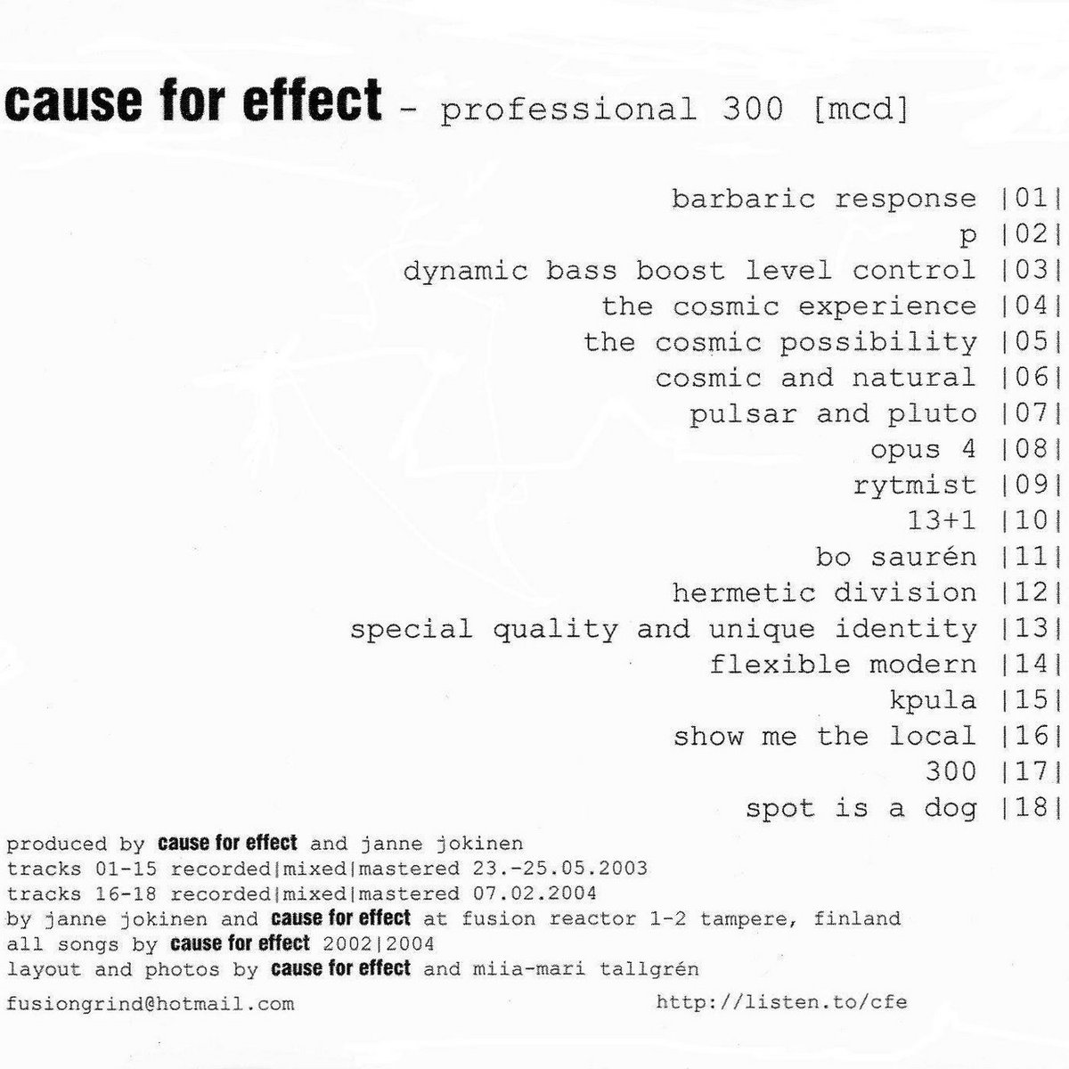 cause and effect band
