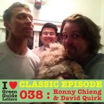 Ep 038 : Ronny Chieng & David Quirk love the 30/08/12 Letters cover art