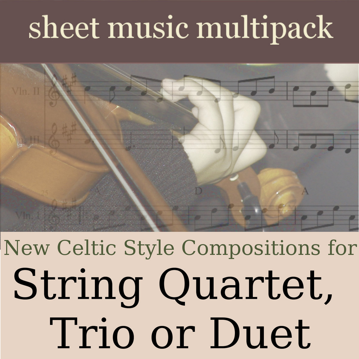 New Celtic Style String Duets, Trios or Quartets - Sheet