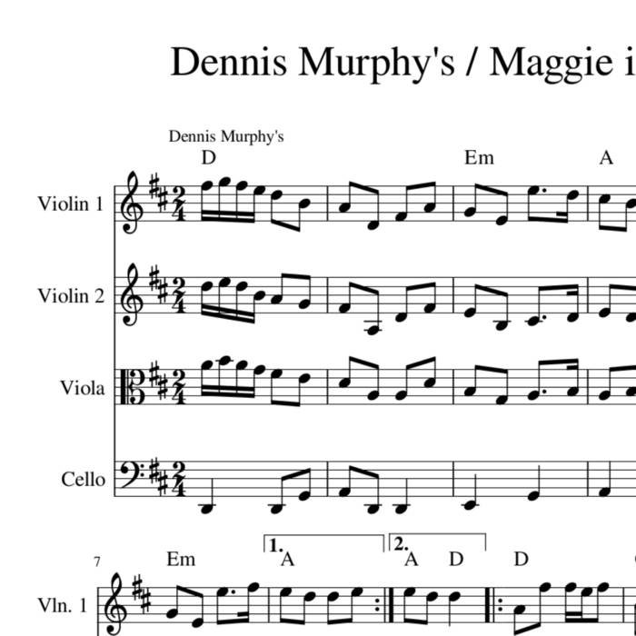 Dennis Murphy's Maggie In The Woods Irish Polka Harmony Sheet Music For String Quartet Trio Or Duet Gift Given: Morrison S Jig Violin Sheet Music At Alzheimers-prions.com