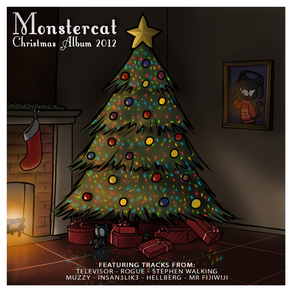 Christmas Album Cover Art.Monstercat Christmas Album 2012 Free Monstercat