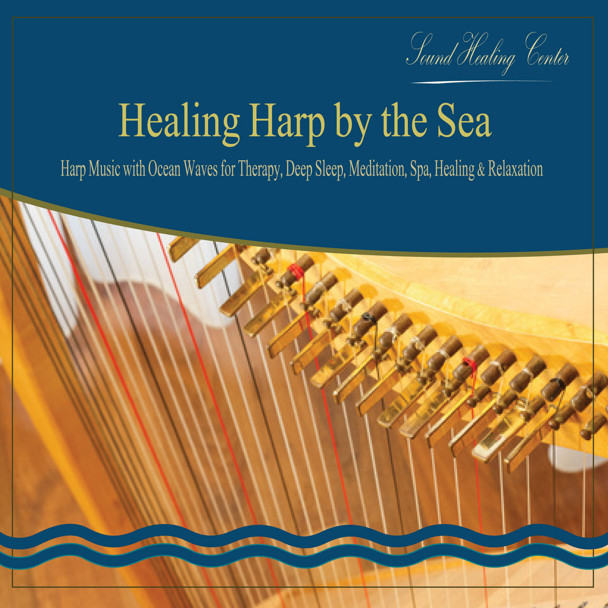 Healing Harp by the Sea: Harp Music with Ocean Waves for