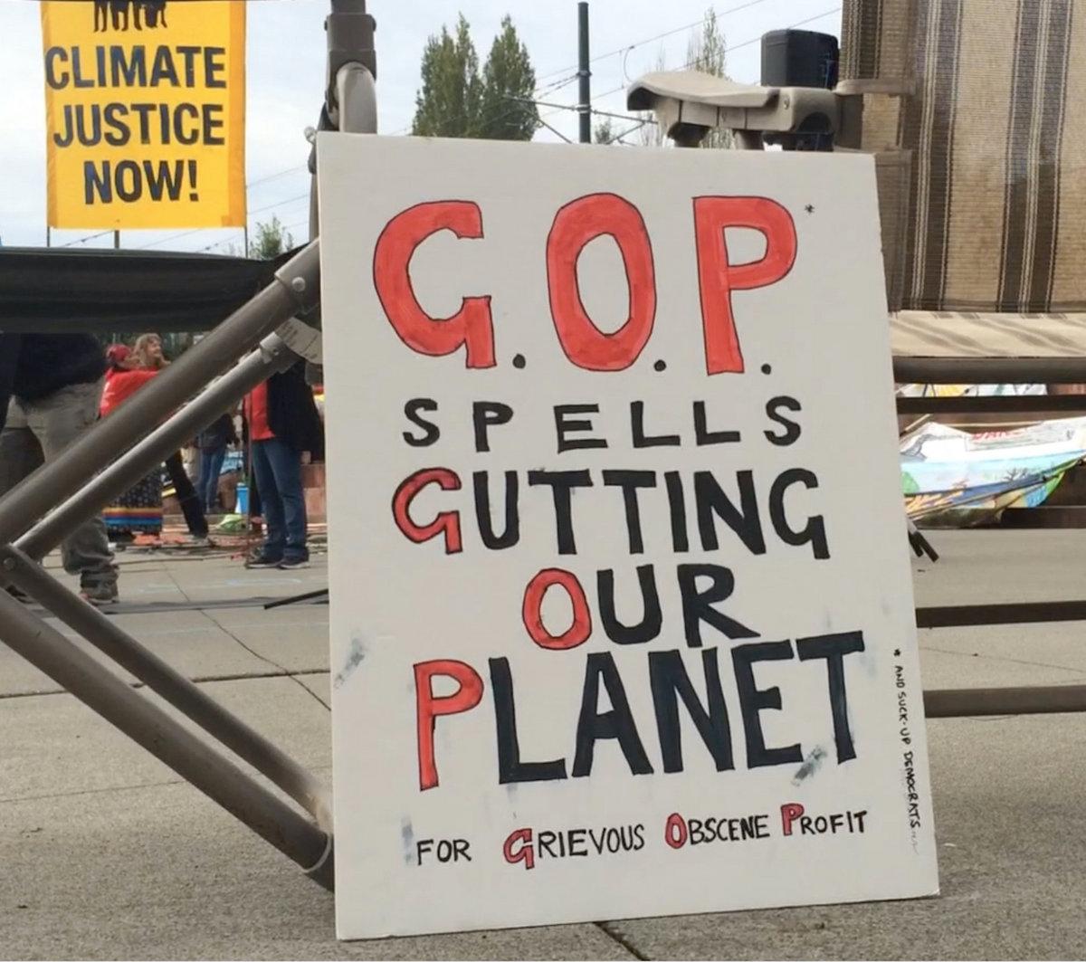 G O P  Spells Gutting Our Planet (demo) | Danbert Nobacon