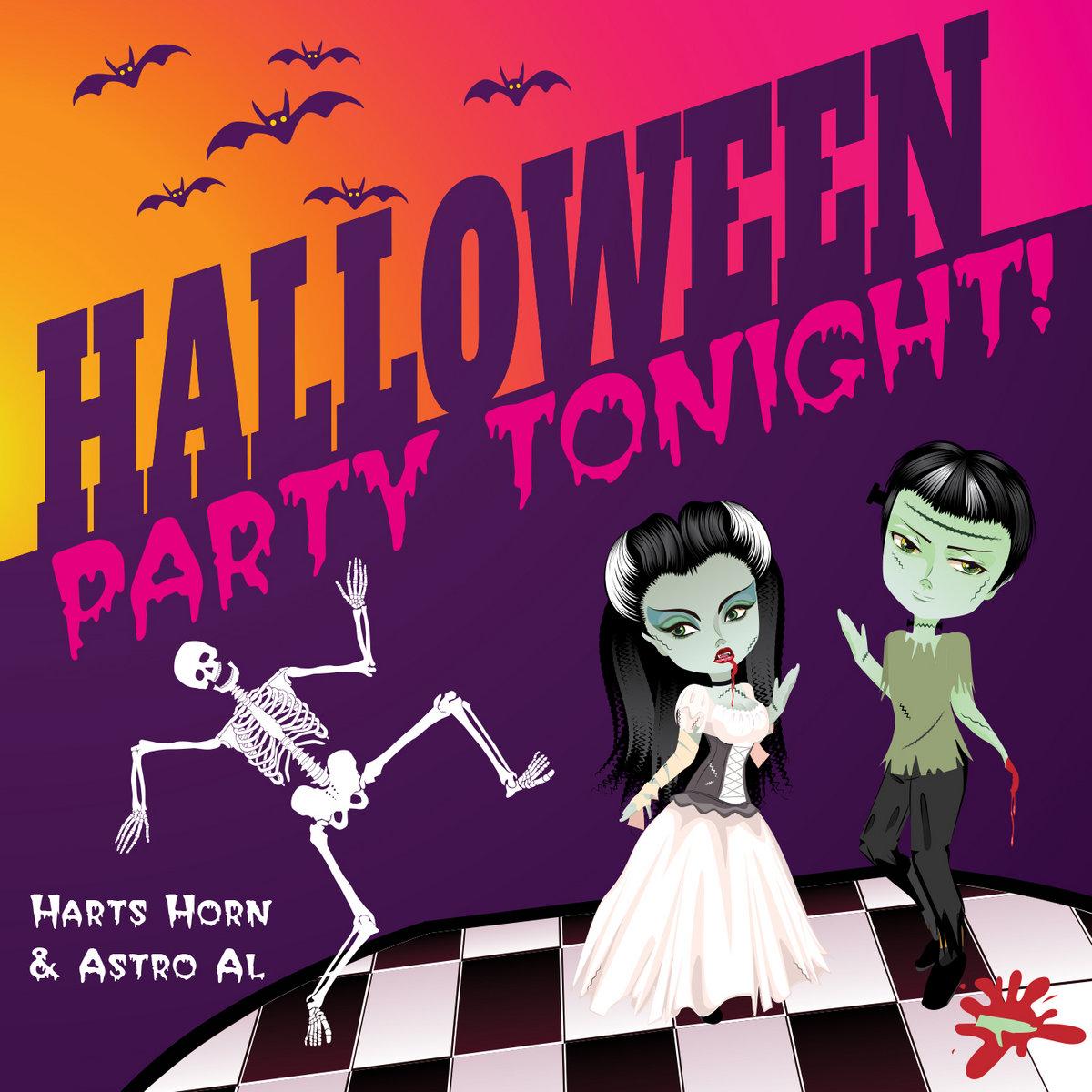 halloween party tonight!   harts horn