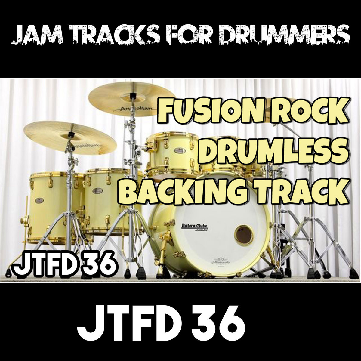Fusion Rock | Drumless Backing Track For Drummers | #BTFD 36 | Jam