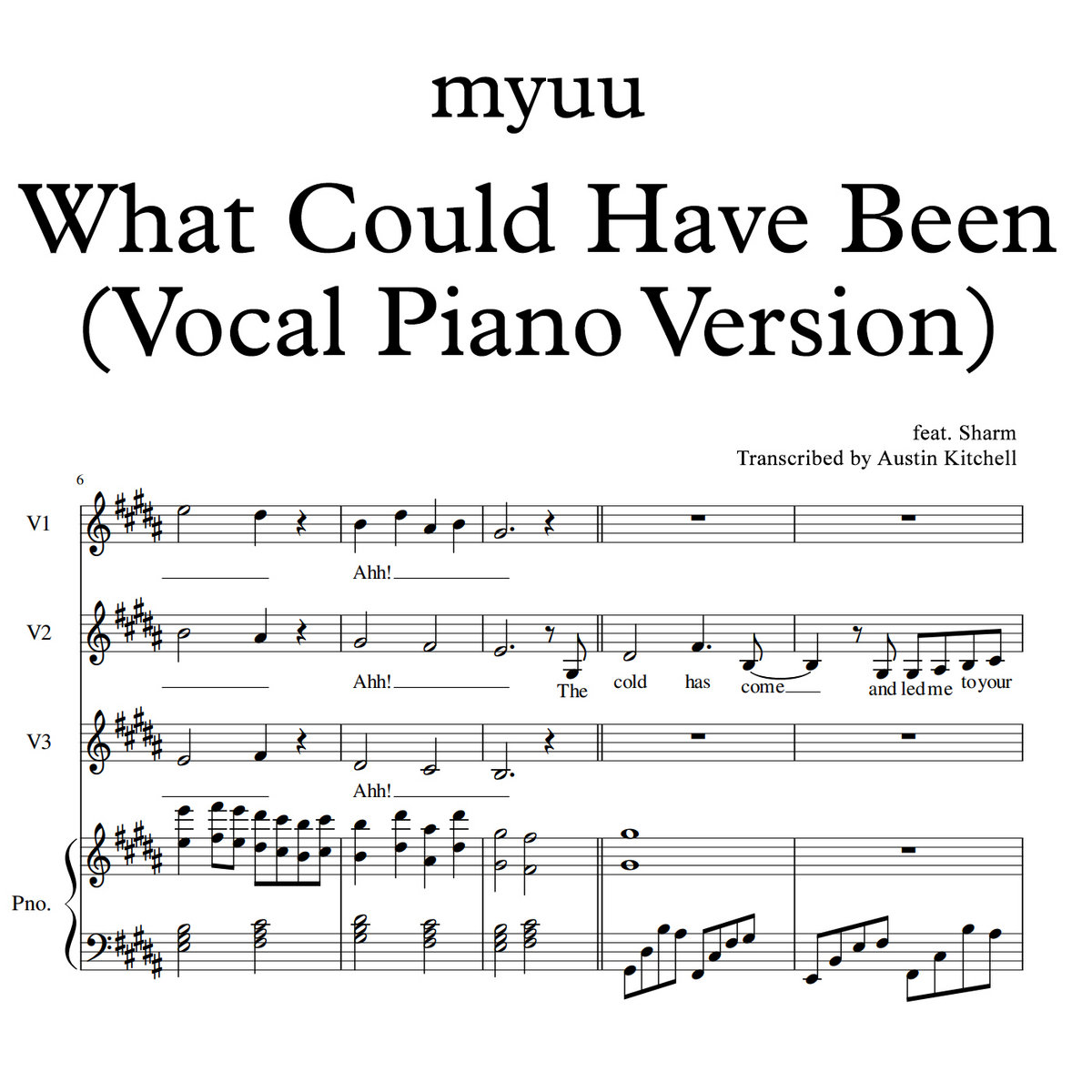 What Could Have Been (Vocal Piano Version)