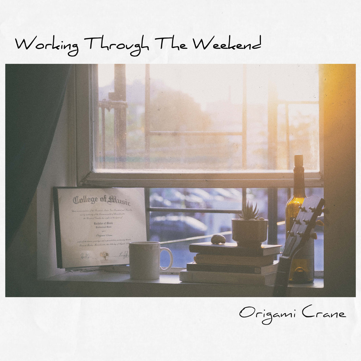 Working Through The Weekend by Origami Crane