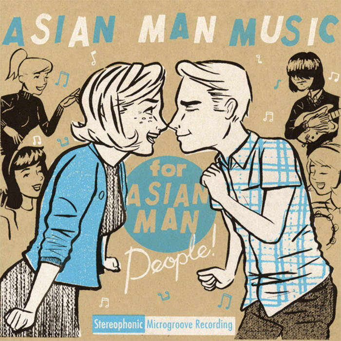 Asian man label