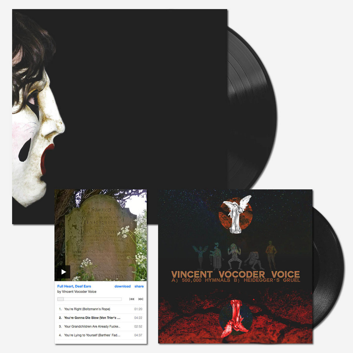 3 RECORD BUNDLE - LP / EP / 7