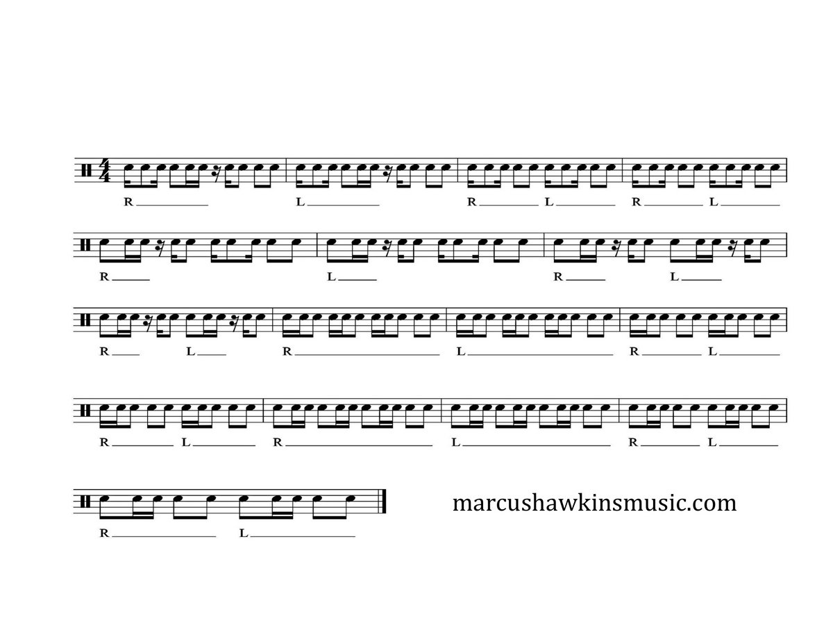 A-B double beat (120 bpm)   marcushawkinsmusic com