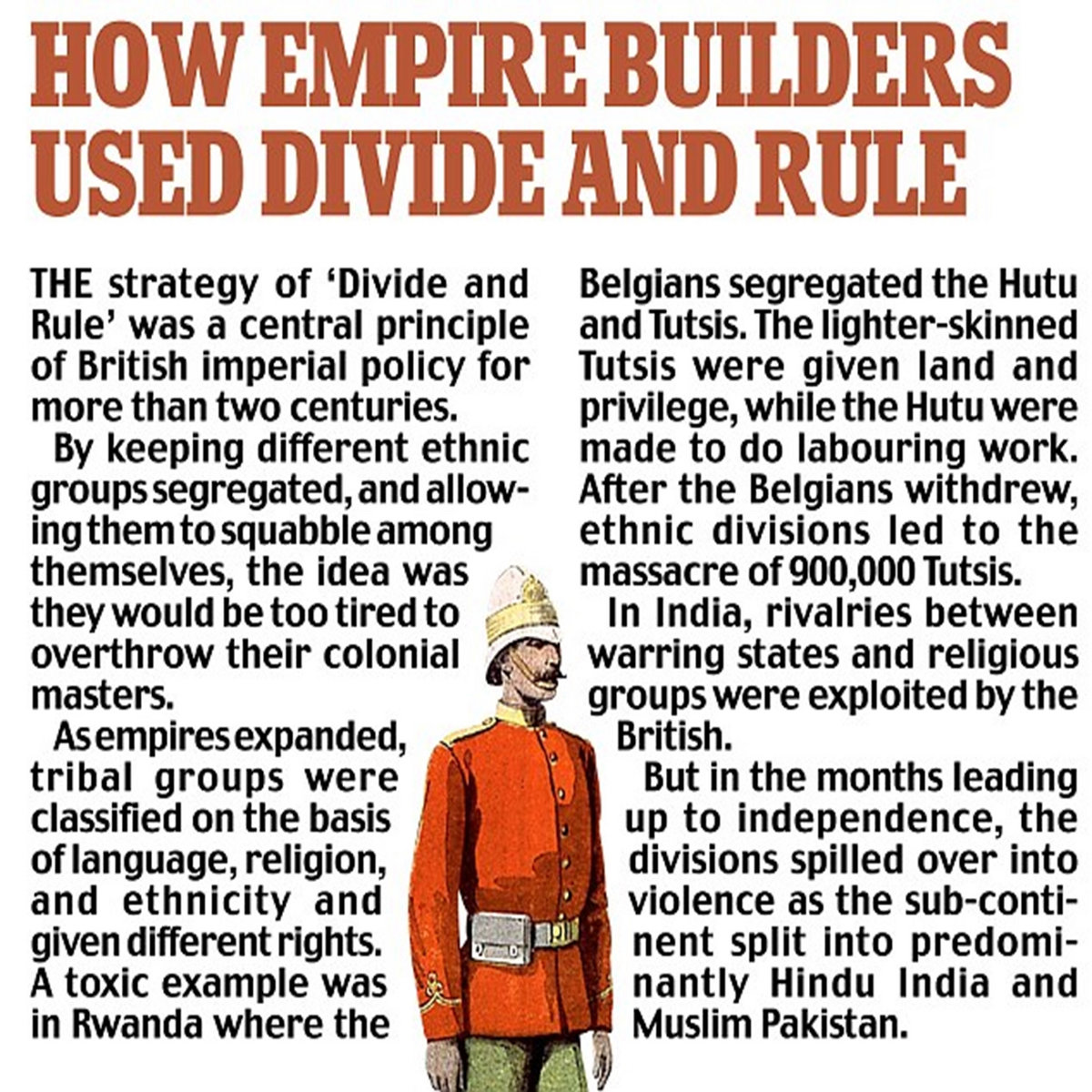 Divide and rule