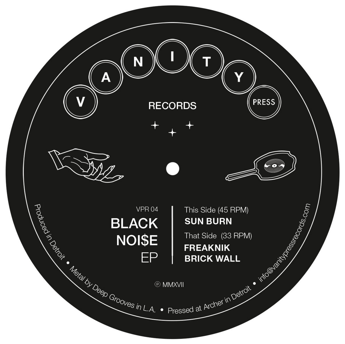 Black Noi$e - Black Noi$e EP (Vanity Press)