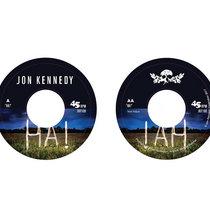 """HA!"" 7 inch vinyl cover art"