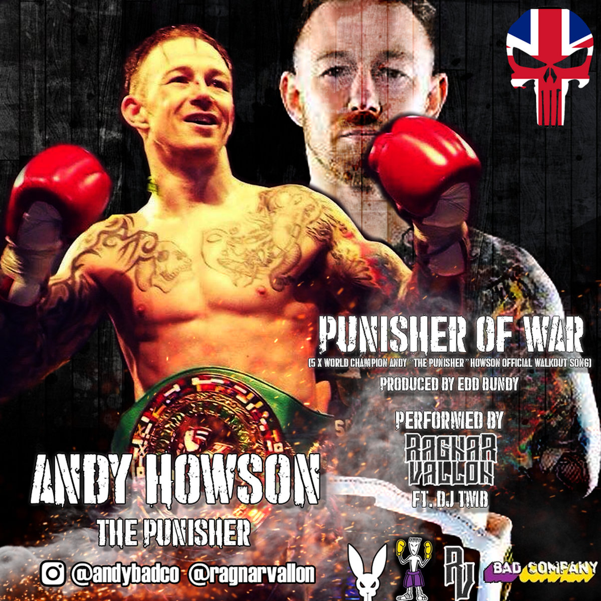 Punisher Of War(Andy Howson Official Walkout Song) Ft  DJ