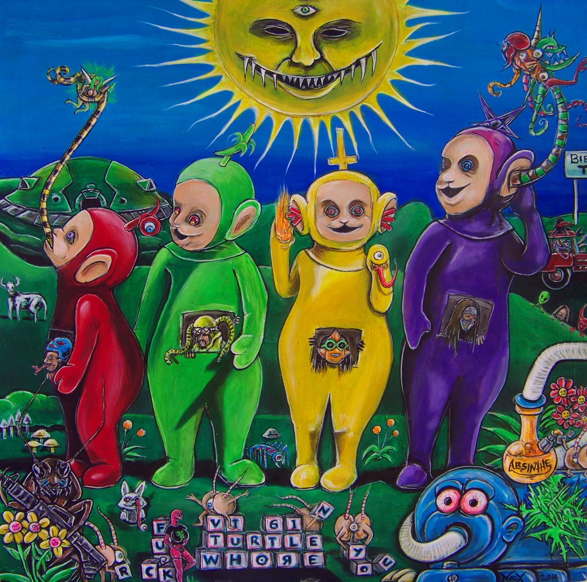 teletubbies say fuck you! | virginturtlewhore