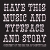 Have This Music and Typeface and Story Cover Art