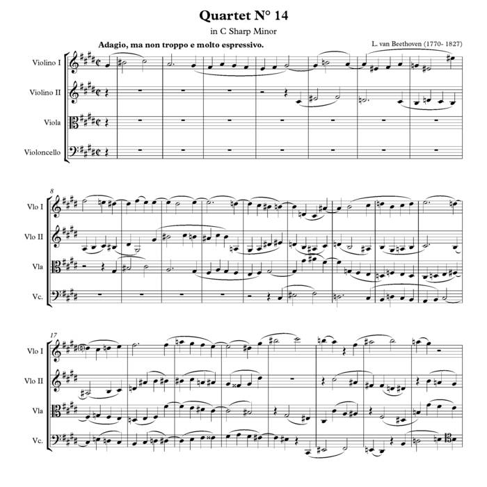Beethoven - String Quartet No 14 | Minus Music