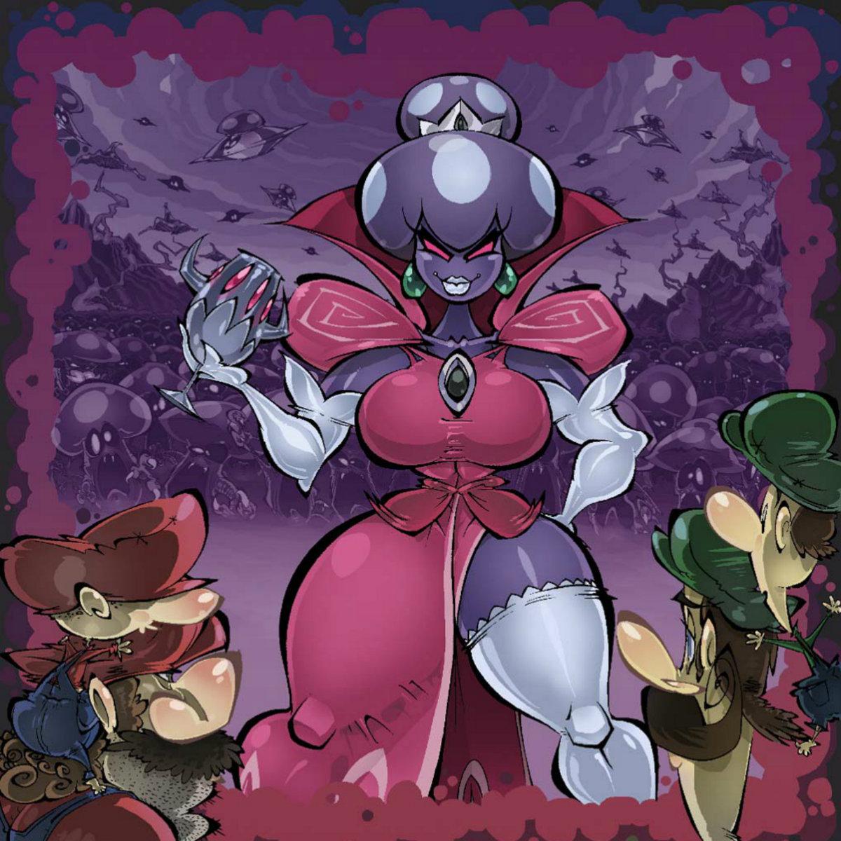 Princess Shroob Battle Mario Luigi Partners In Time Bw