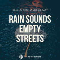 City Rain Sounds Empty Streets Relaxing Sound Effects cover art