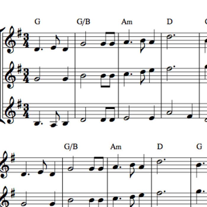 Skye Boat Song Fiddle Trio Or Duet Arrangement Sheet Music