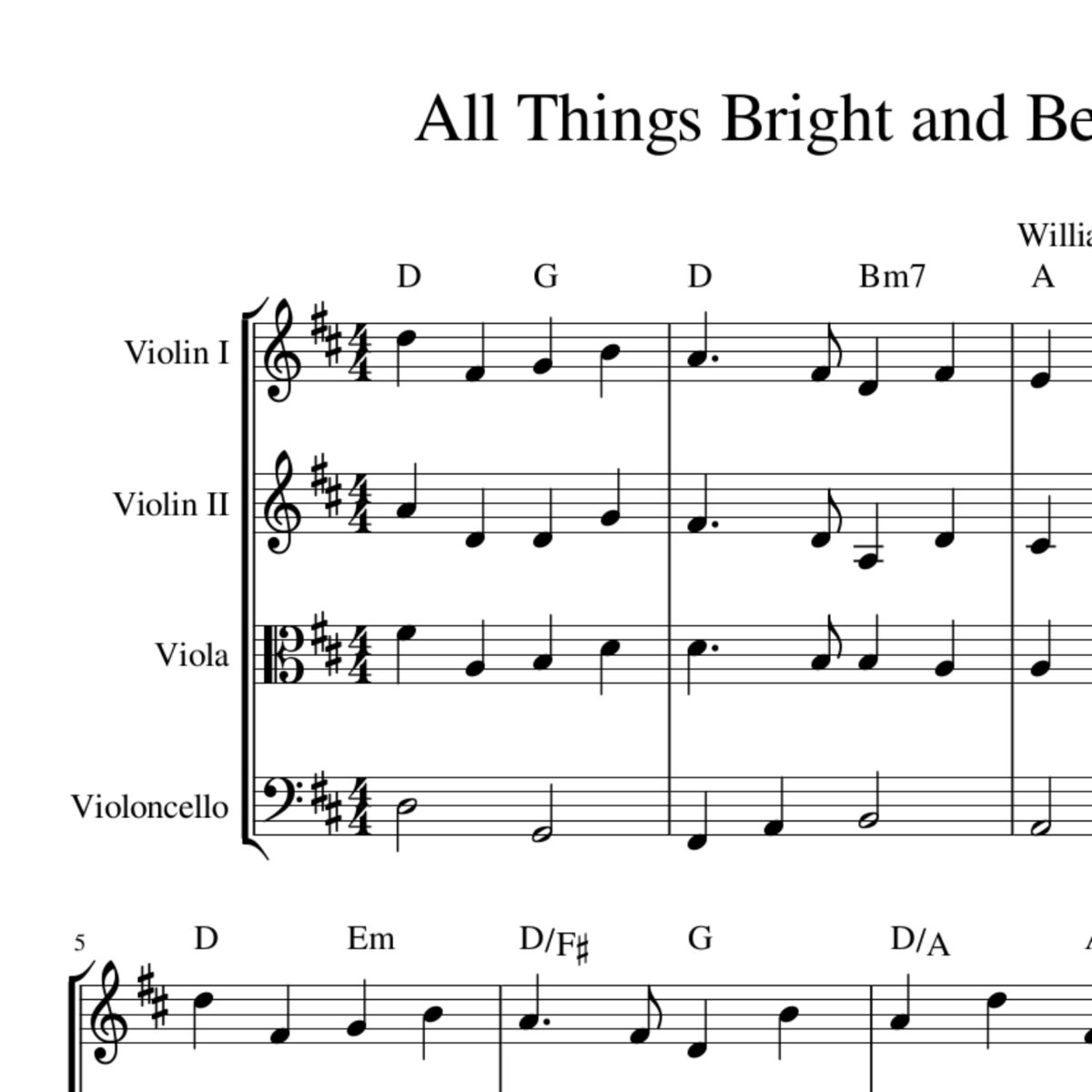 All things bright and beautiful string quartet arrangement sheet by celtic hymns in harmony hexwebz Image collections