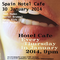 Spain Hotel Cafe Los Angeles, CA 30 January 2014 cover art