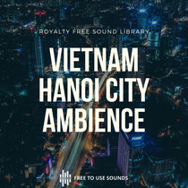 Hanoi City Ambience Sound Effects I Busy Traffic, Markets & Crowds I 12.5GB cover art