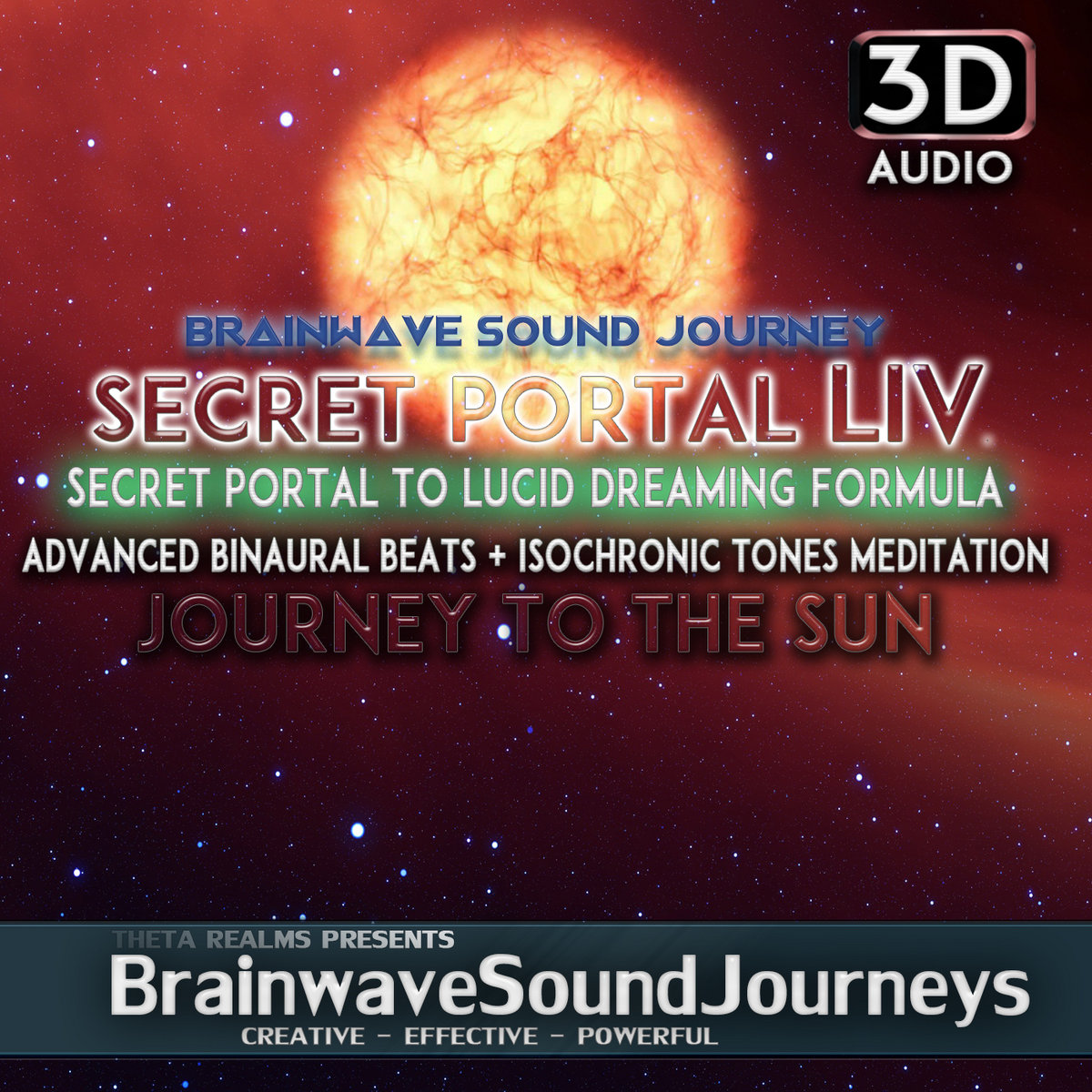 DEEP LUCID DREAMING JOURNEY TO THE SUN (3D AUDIO) Theta