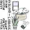 cabbage / oxblood split Cover Art