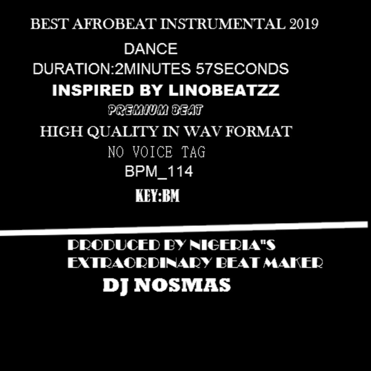 Best Afro Beat Instrumentals 2019|No Voice Tag|Prod By DJ