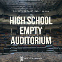 Empty High School Auditorium   Flipping Chairs, Stage Curtains & Room Tone cover art