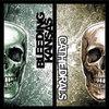 Cathedrals/Bleeding Kansas s/t split LP Cover Art