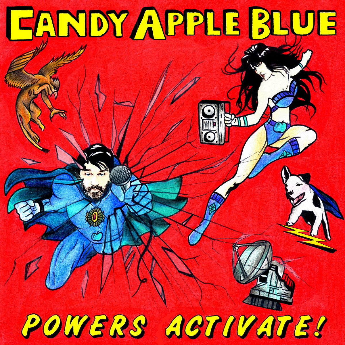 Powers Activate!   Candy Apple Blue