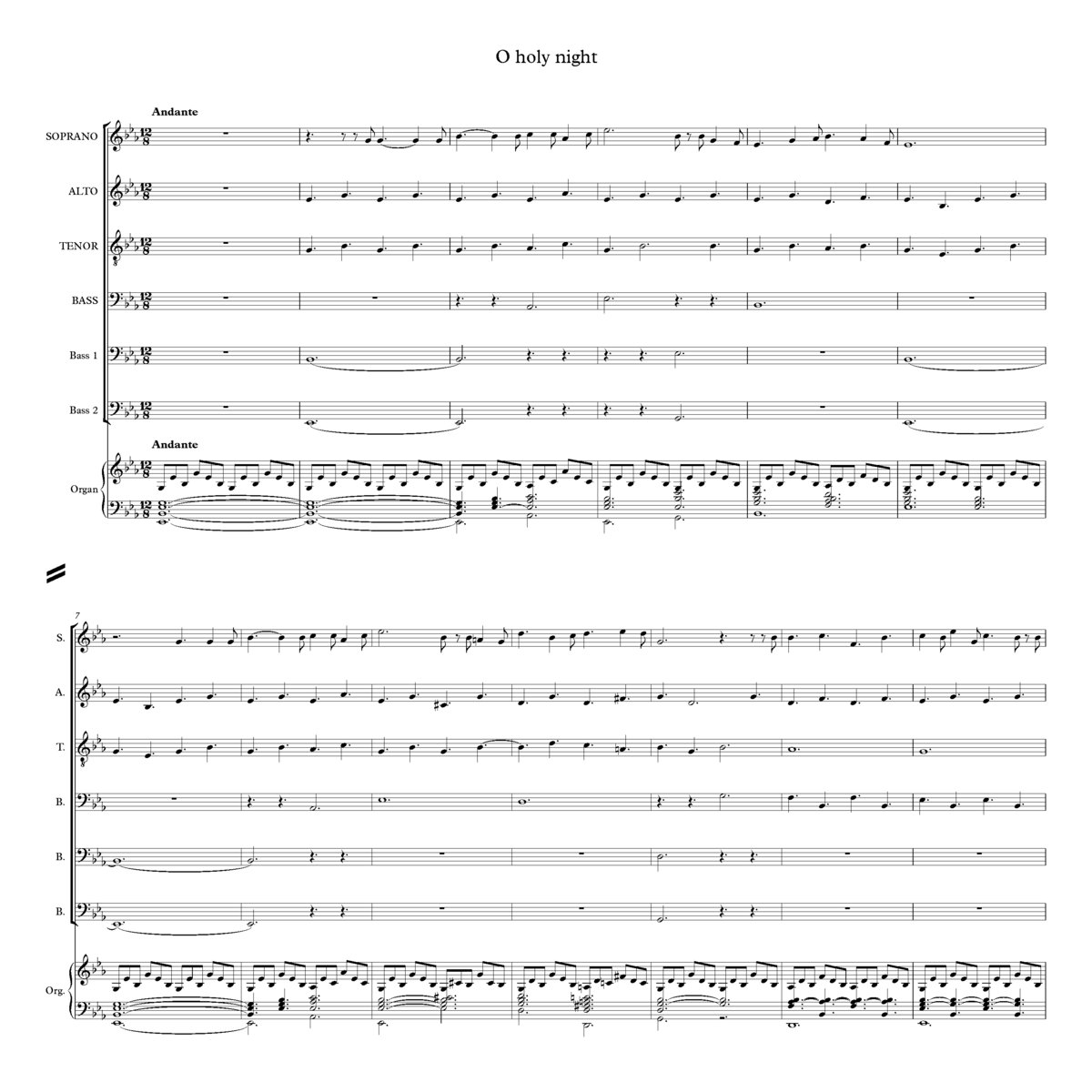 O Holy Night J E West Choral Music Practice Files