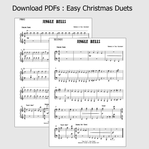 PDF Chart: Easy Christmas Duets [piano: 4 Hands]