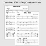 PDF Chart: Easy Christmas Duets [piano: 4 hands] | Sally