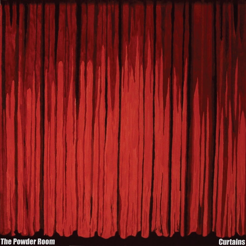 Red velvet curtain wallpaper - Curtains