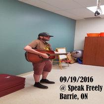 Sept 19 2016 @ (Early Show) Speak Freely - Barrie, ON cover art