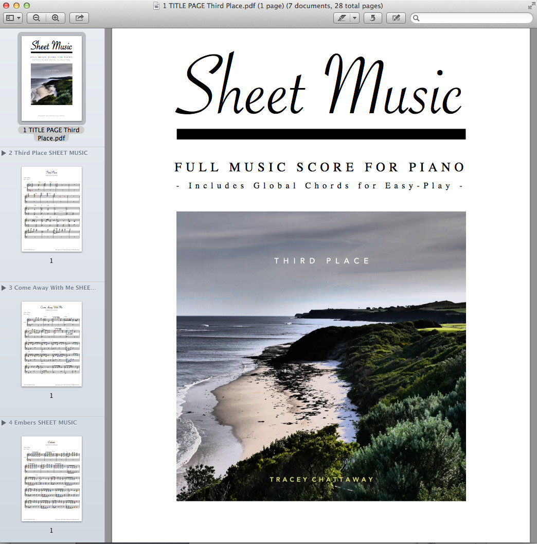 SHEET MUSIC DOWNLOAD (PDF) - Third Place | Tracey Chattaway