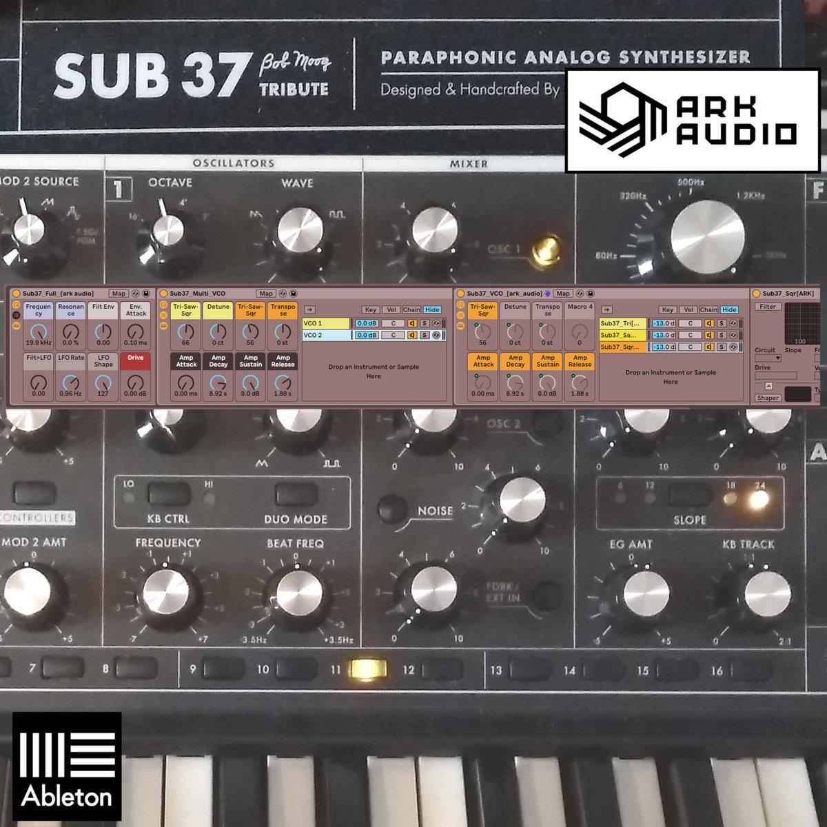 Moog Sub37 Samples + Ableton Instrument | Ark Records