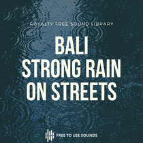 Rain Shower Sounds Street & Tin House Bali, Indonesia cover art