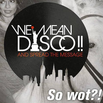 WE MEAN DISCO!! feat JESSE JACKSON - Lost In Music cover art