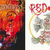 "Red Sun / Mockingbird Split 7"" Cover Art"