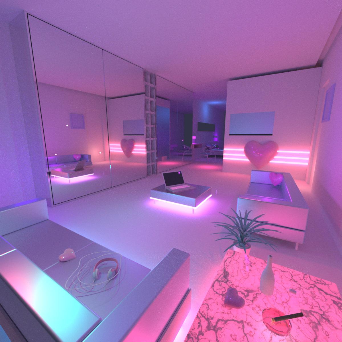 E x i s t jessaudrey - Bedroom interior pink purple ...