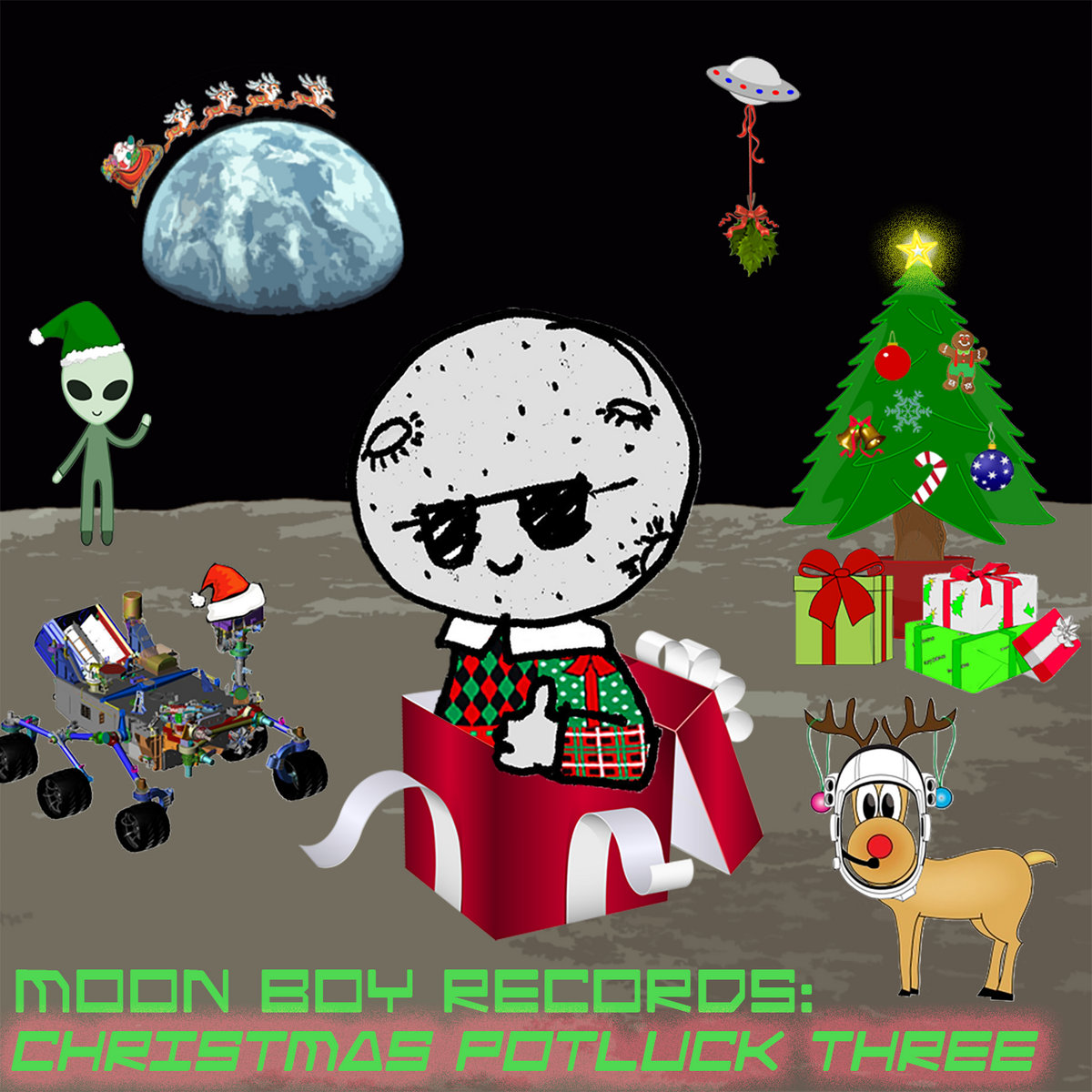 Christmas Potluck.The Moon Boy Records Christmas Potluck Three Moon Boy Records