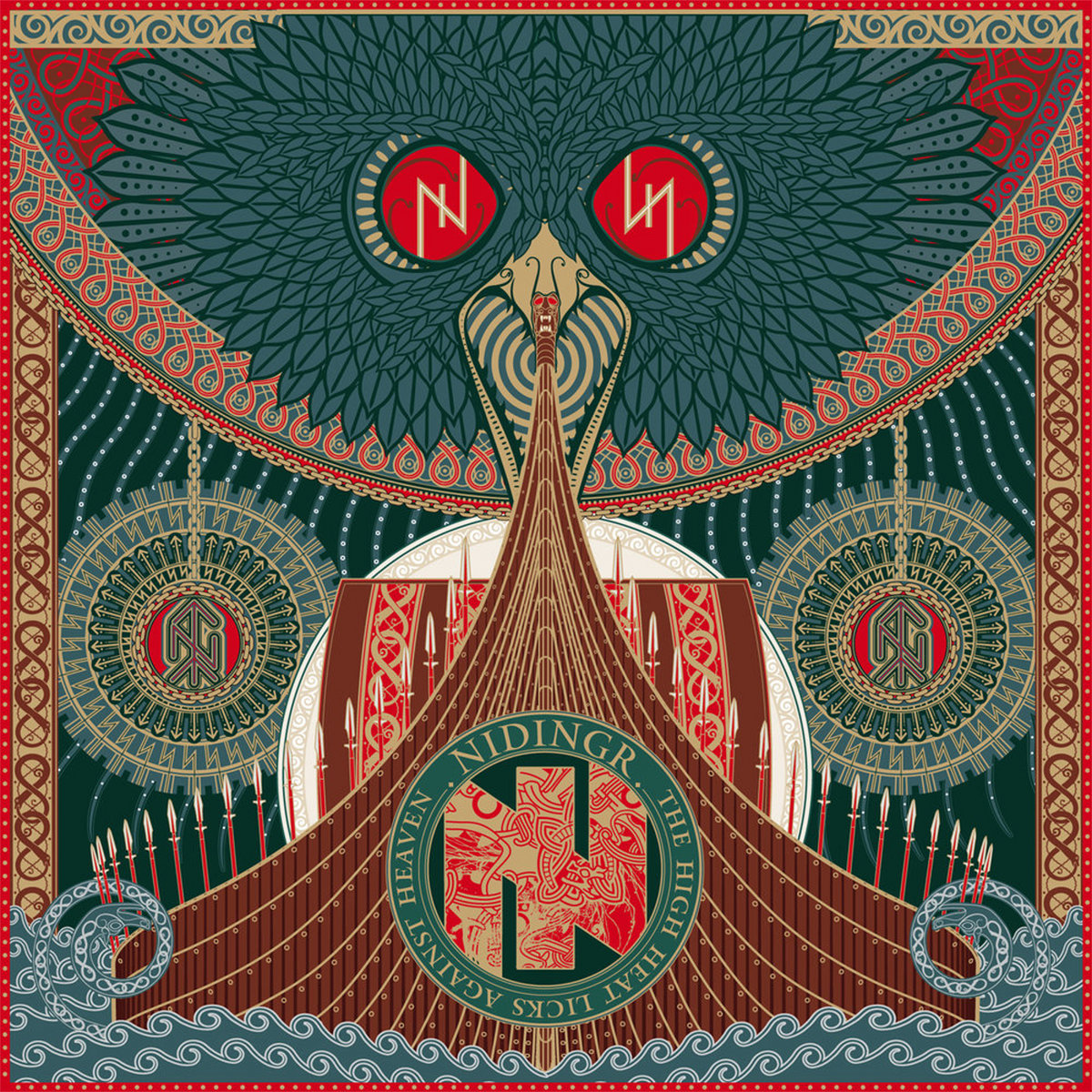 Image result for album art Nidingr: The High Heat Licks Against Heaven