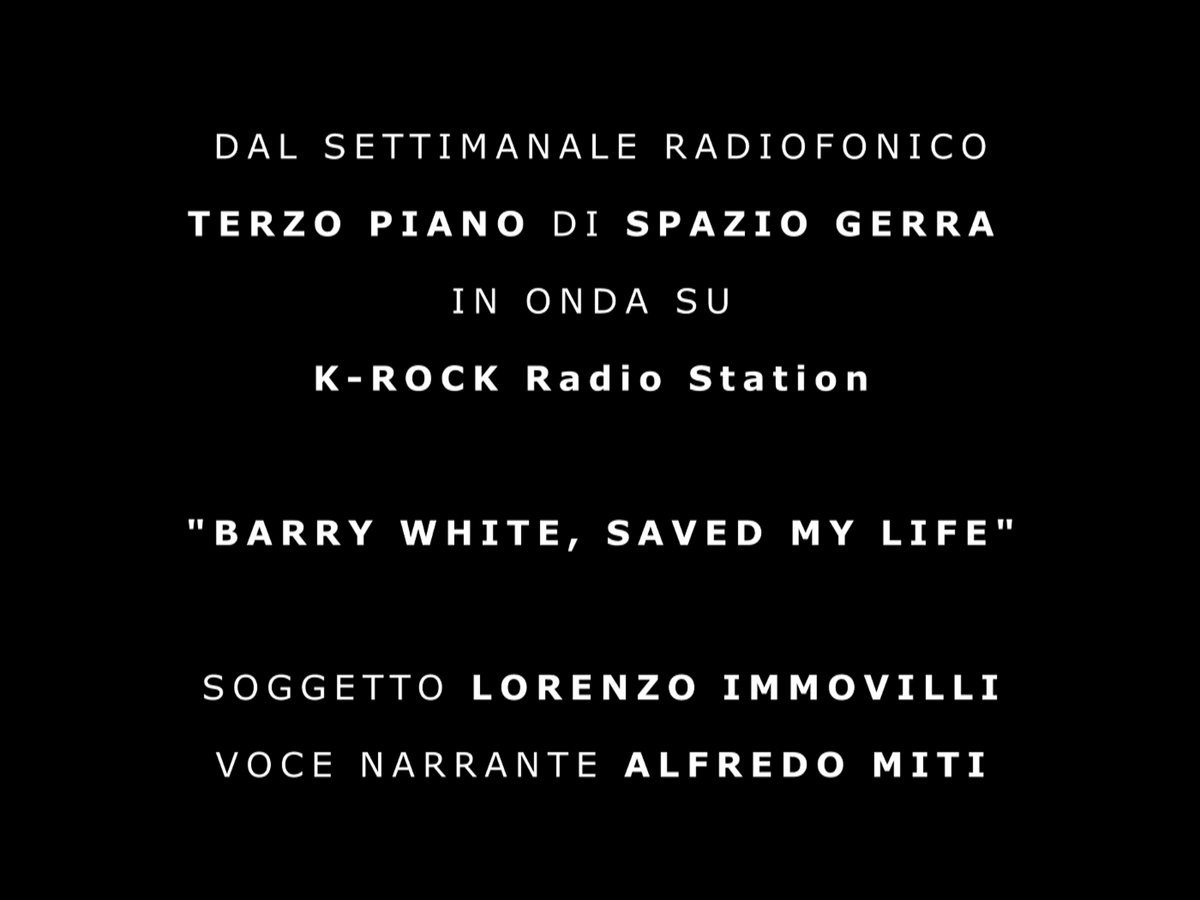 Barry White, saved my life | Alfredo Miti