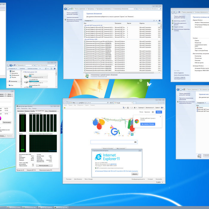 Windows 7 Максимальная SP1 32bit64bit 2012 Rus