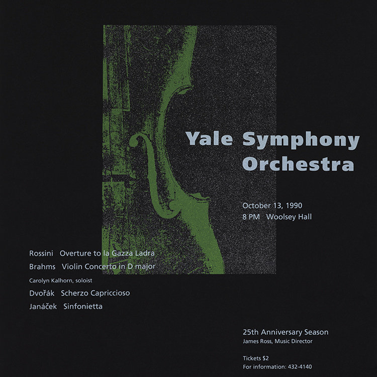 October 13, 1990 in Woolsey Hall   Yale Symphony Orchestra